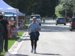 A runner returning from our annual 5 km fun run. Runners said they found it scenic and challenging.