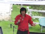 Kirk Francois, Elvis Tribute Artist, performs for an enthusiatic crowd.