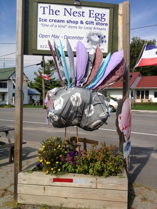 Second Prize ($50 sponsored by Red Fish Cottages) goes to The Nest Egg 133 Main St., Seeleys Bay